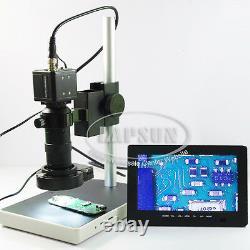 100X Digital Industrial Microscope Camera BNC AV TV + C Mount Lens + 7 Monitor