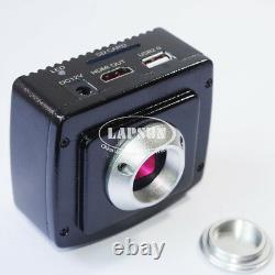1080P HDMI USB HD Lab Industrial C-mount Microscope Digital Camera SD Recorder