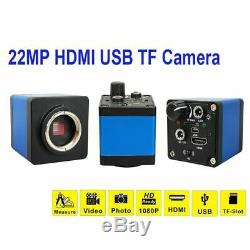 13MP HDMI VGA /22MP HD USB TF Monocular Microscope Digital Camera Lens 56 LED Li