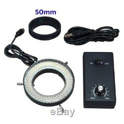 14MP Digital Camera Trinocular Stereo Zoom 3.5-90X Microscope+144 LED Ring Light