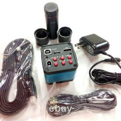 14MP HDMI Microscope Camera USB Industry Digital Eyepiece with 0.5xC-mount Lens
