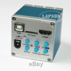 14MP HDMI USB HD Lab Industrial C-mount Microscope Digital Camera Recorder Stand