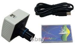 1600X Brightfield & Turret Phase Contrast PLAN Microscope+1.3MP Digital Camera