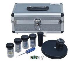 1600X Turret Phase Contrast Compound Siedentopf Microscope w 5MP Digital Camera