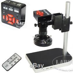 16MP 1080P 60FPS HDMI USB FHD Industrial Microscope Digital Camera + 100X Lens