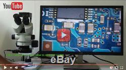 16MP 60FPS HDMI USB Digital Camera +45X Simul-focal Trinocular Stereo Microscope