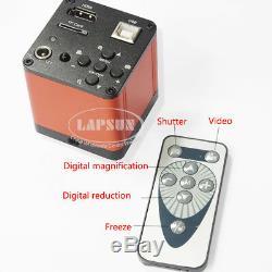 180X 16MP 1080P 60FPS HDMI USB Industrial C-mount Lens Microscope Digital Camera