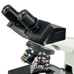 2000X Laboratory Compound Binocular 9MP Digital Microscope w Mechanical Stage