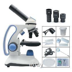 2000X USB Camera Digital Microscope LED Monocular Biological Microscope