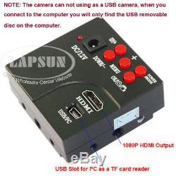 200X 1080P 60FPS HDMI Digital Camera + Simul-focal Trinocular Stereo Microscope