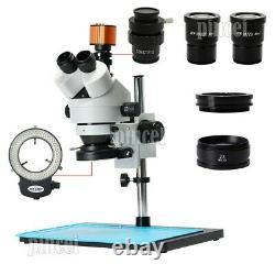 24MP HDMI Digital USB Microscope Camera Kit 7X-90X Trinocular Stereo Microscope