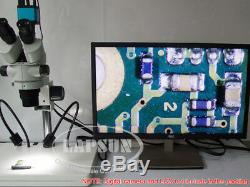 3.5-45X Simul-focal Trinocular Stereo Microscope +Gooseneck LED F Digital Camera