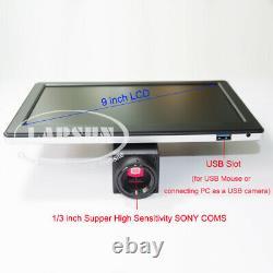 3.5-90X Trinocular Zoom Stereo Microscope 1080P 60FPS Digital C-mount Camera LCD