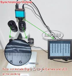 3.5X 225X Simul-focal Trinocular Stereo Microscope for Digital Eyepiece Camera