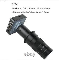 38MP 1080P 60FPS Industry Digital Microscope Video Camera Fit Phone PCB Repair