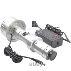 3D Stereo 180X C-MOUNT Lens w LED Light for Digital Industrial Microscope Camera