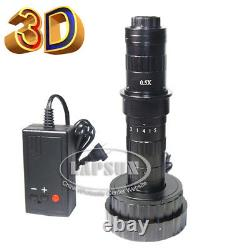 3D Stereo & 2D 200X Zoom C-MOUNT Lens LED F Digital Industrial Microscope Camera
