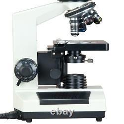 40X-1000X Dry Darkfield Laboratory Compound Microscope +1.3MP Digital Camera