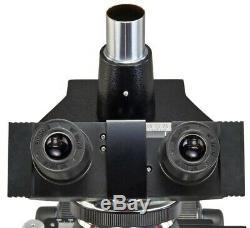 40X-1600X Compound Trinocular Lab Replaceable LED Microscope+5MP Digital Camera