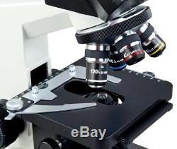 40X-1600X Laboratory Trinocular Replaceable LED Microscope+9MP Digital Camera