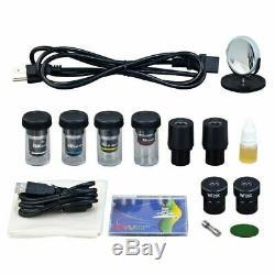 40X-2000X Built-in 3MP Digital Camera Binocular Lab Compound LED Microscope