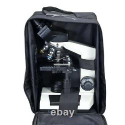 40X-2000X Built-in Camera Microscope+Case+Slides+Covers 3MP Digital Compound