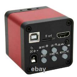 48MP 1080 HDMI Industrial Digital Microscope Camera Soldering Repair + 180X Lens