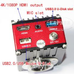 4K UHD HDMI 60FPS FHD Industrial Microscope Digital Video Camera C mount USB 3.0