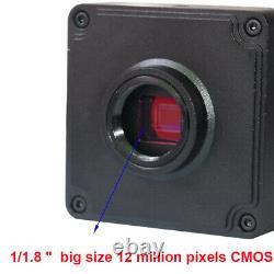 4K UHD HDMI Industrial Microscope Digital Video Camera C mount Measuring Scale