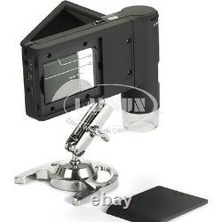 500X Portable Digital Mobile MicroScope 5MP HD Camera Foldable 3 inch LCD Screen