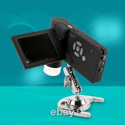 5MP HD Digital Portable Microscope Foldable Camera with 3 LCD Screen 8 LED