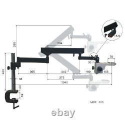 6.7X-45X Stereo Microscope+Articulat Arm Stand+6W LED Light+5.0MP Digital Camera