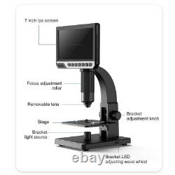 7 Inch HD Digital Microscope For Soldering Electronic Continuous Amplification