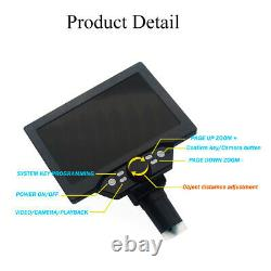 7 Inch LCD Video Microscope for Phone & Watch Repair Soldering PCB Inspection