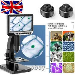 7inch Screen Electronic Industrial Microscope 2000X Digital Camera For Soldering
