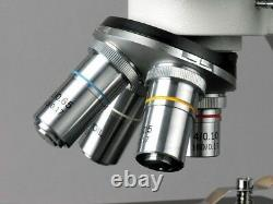 AmScope 1000X Vet High Power Binocular Microscope + 1.3MP USB Digital Camera