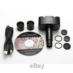 AmScope 20X-40X Stereo Microscope on Boom Stand + 1.3MP Digital Camera