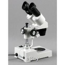 AmScope 20X-80X Binocular Stereo Microscope USB 2.0 Digital Camera Pillar-Stand