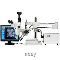 AmScope 2X-225X Trinocular Stereo Zoom Microscope + 9MP Digital Camera