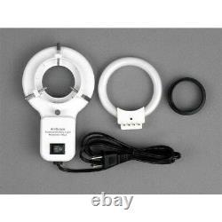 AmScope 3.5-90X Articulating Zoom Microscope + 8MP Digital Camera w Fluor. Light