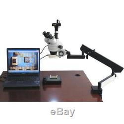 AmScope 3.5-90X Articulating Zoom Microscope + 9MP Digital Camera w Fluor. Light