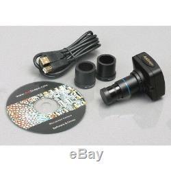 AmScope 3.5X-180X Zoom Stereo Microscope 144-LED + 3MP Digital Camera Multi Use