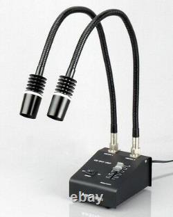 AmScope 3.5X-225X Zoom Stereo Microscope w Gooseneck LED Lights + 1.3MP Digital