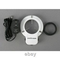 AmScope 3.5X-90X Articulating Stereo Microscope + 54-LED + 10MP Camera