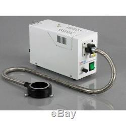 AmScope 3.5X-90X Simul-Focal Trinocular Boom Microscope + 5MP Digital Camera