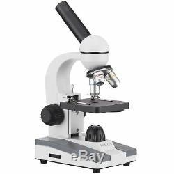 AmScope 40X-1000X Glass Optics Student Compound Microscope + USB Digital Camera