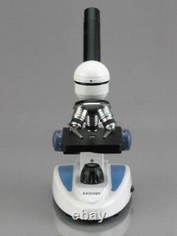 AmScope 40X-1000X Student Science Microscope + 5MP Digital Camera w Metal Frame