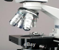 AmScope 40X-2000X Binocular Compound LED Microscope 3D Stage 10MP Digital Camera