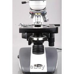 AmScope 40X-2000X Biological Compound LED Microscope + 5MP Digital Camera