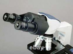 AmScope 40X-2000X LED Binocular Digital Compound Microscope 3D Stage 5MP Camera